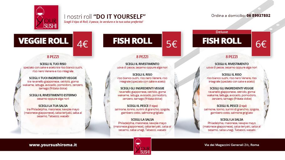 Sushi Roll menu Roma
