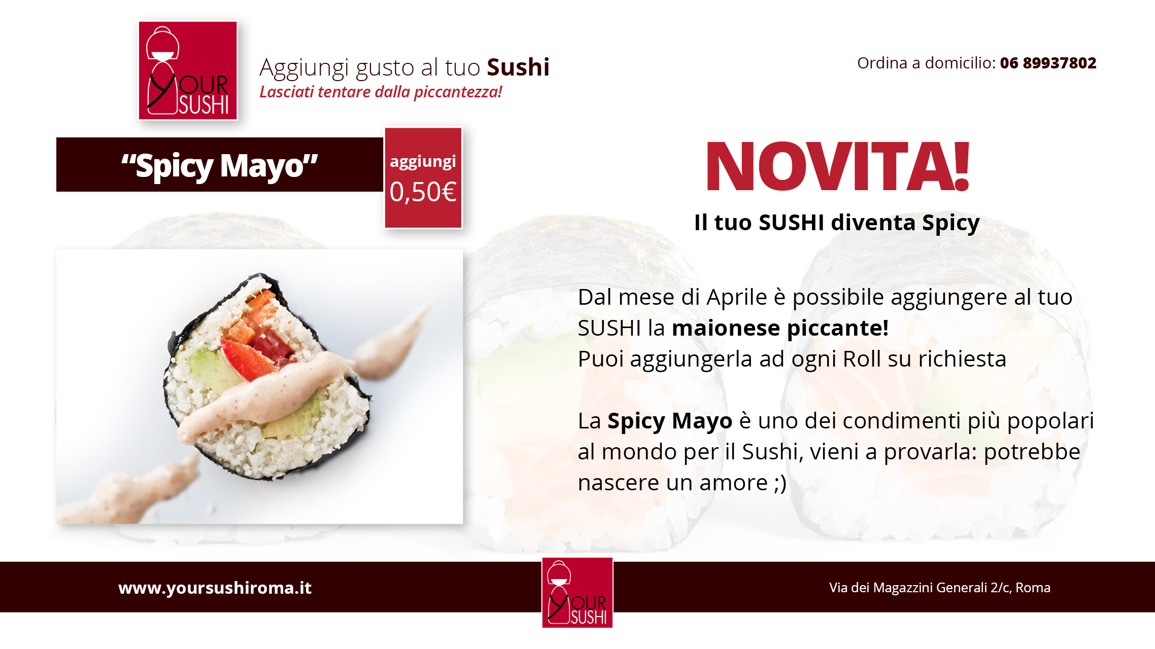 Spicy mayo Sushi con maionese piccante