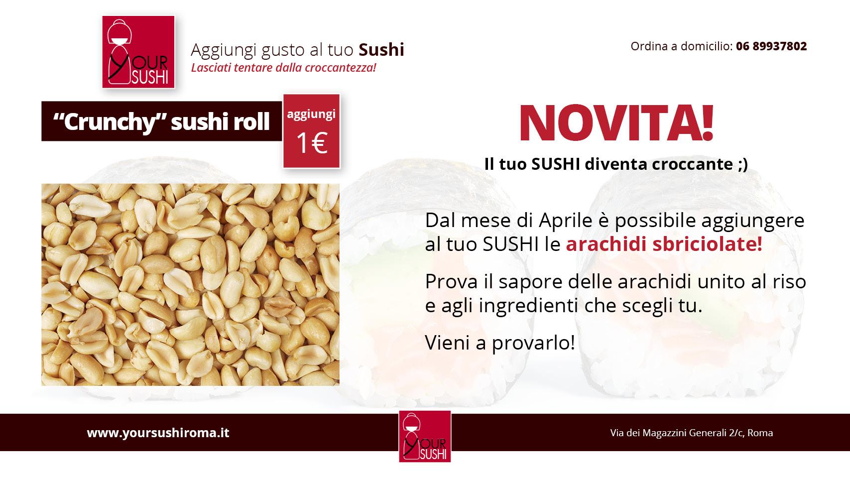 Crunchy Sushi con arachidi sbriciolate