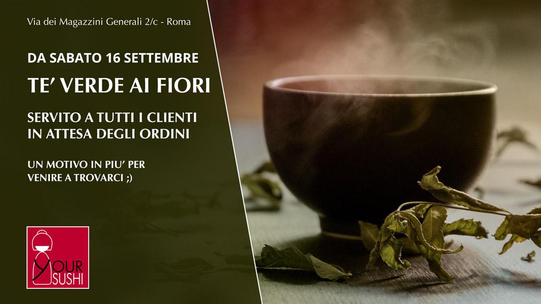 tè verde offerto ai nostri clienti Your Sushi Roma