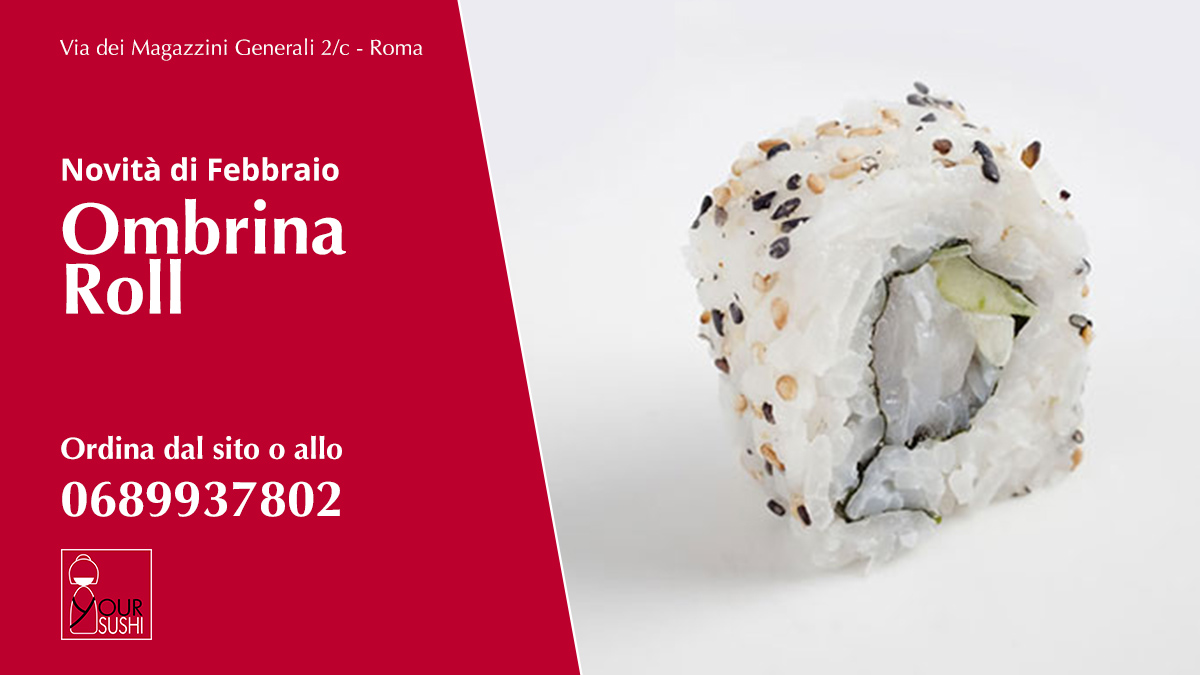 Ombrina Roll sushi