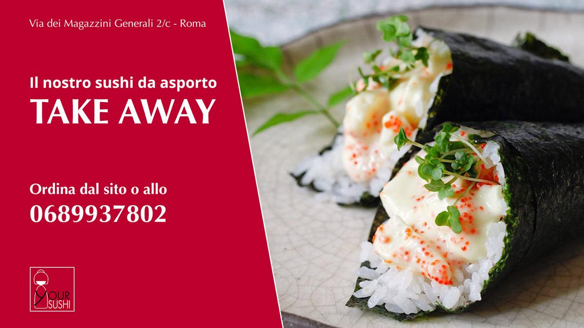 sushi take away a Roma: prova il nostro sushi da asporto a Roma