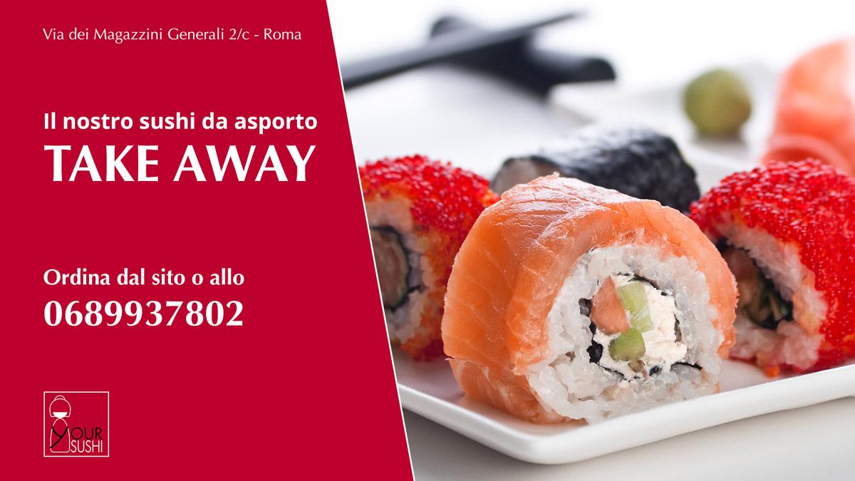 Sushi Take Away Roma zona Garbatella, Ostiense, Marconi, Eur