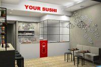 Your Sushi Roma, rendering del locale vista frontale 1